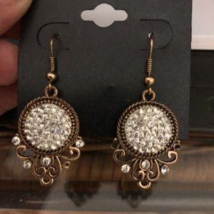 Fashion Druzy STyle Dangle Earrings +1 gift